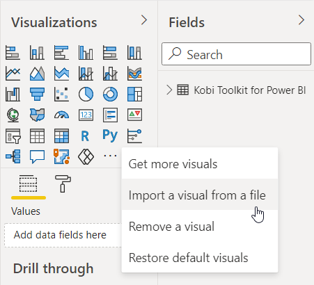 Power BI - Import a visual from a file